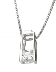 Clear CZ Necklace: $59
