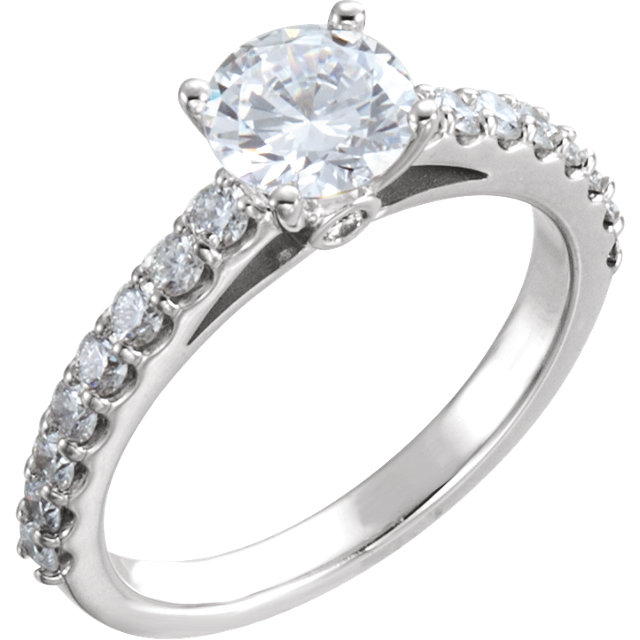 diamond with accented band